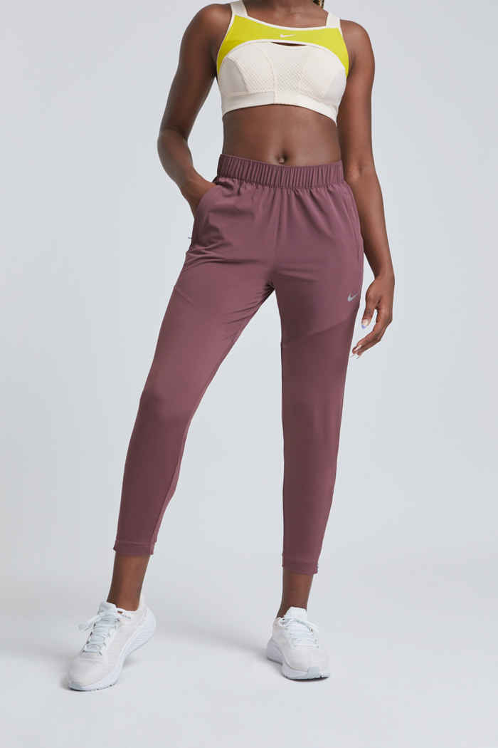 Nike Dri-FIT Essential Damen Laufhose Farbe Weinrot 1