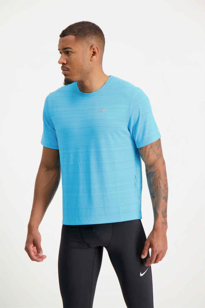 Nike Dri-FIT Miler t-shirt uomo Colore Turchese 1