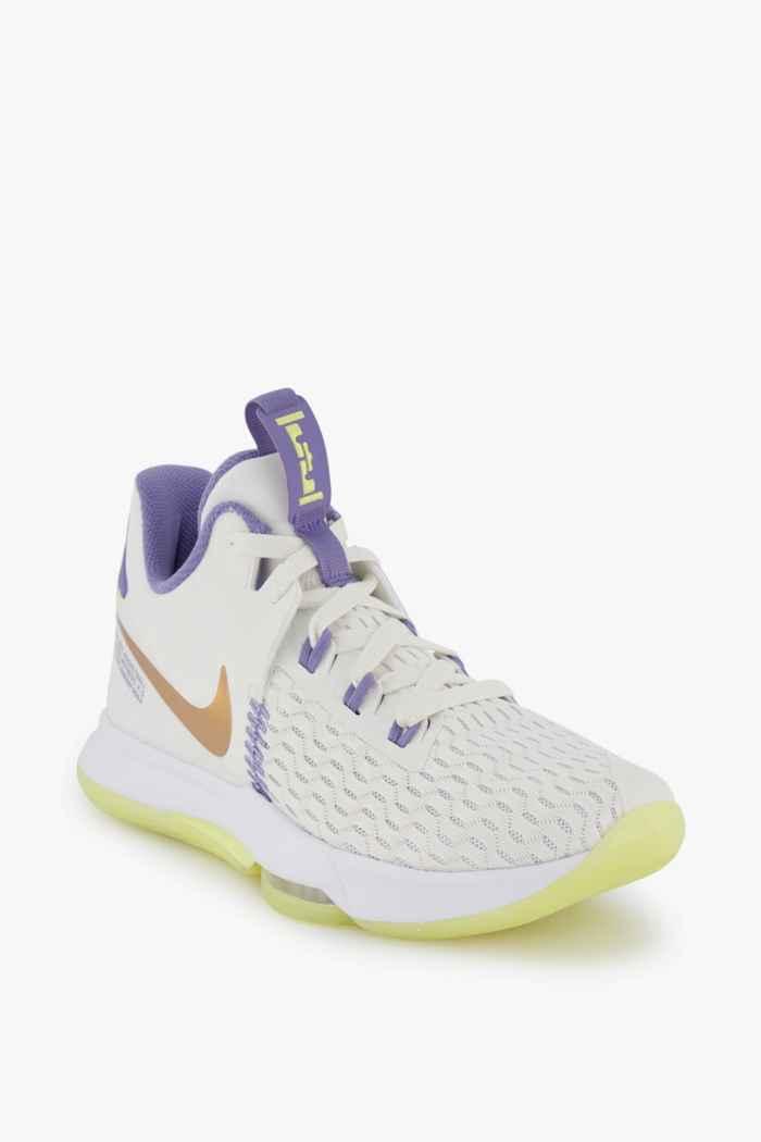 Nike LeBron Witness 5 chaussures de basket hommes Couleur Blanc 1