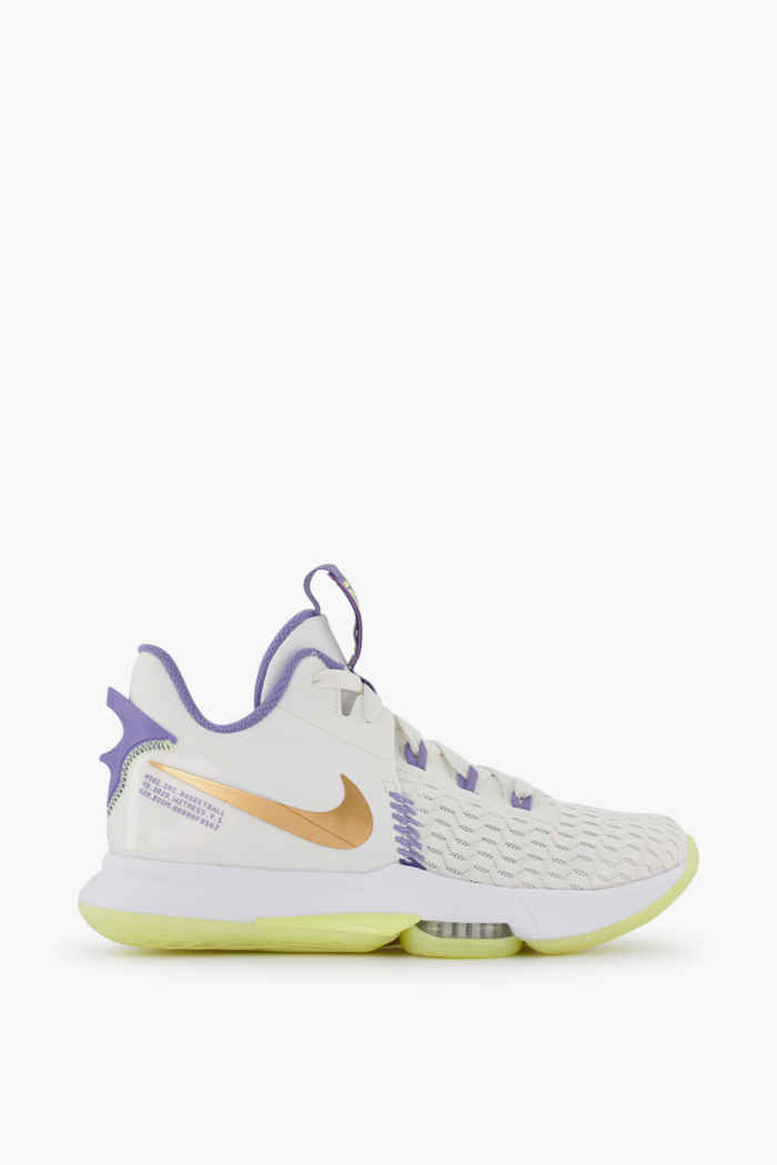 Nike LeBron Witness 5 chaussures de basket hommes Couleur Blanc 2