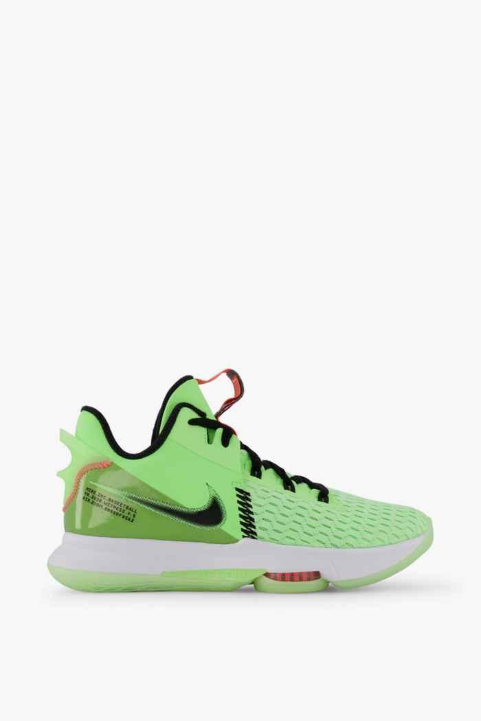 Nike LeBron Witness 5 chaussures de basket hommes Couleur Vert 2