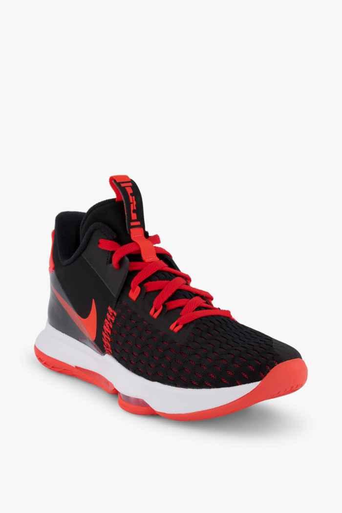 Nike LeBron Witness 5 Herren Basketballschuh Farbe Schwarz-rot 1