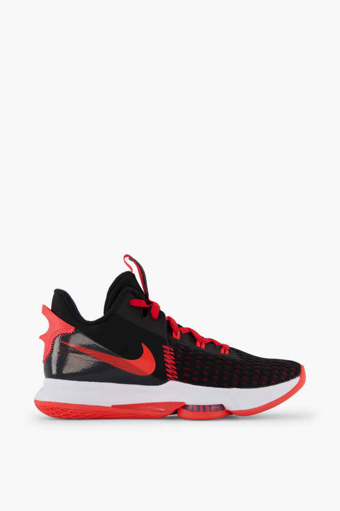 Nike LeBron Witness 5 Herren Basketballschuh Farbe Schwarz-rot 2