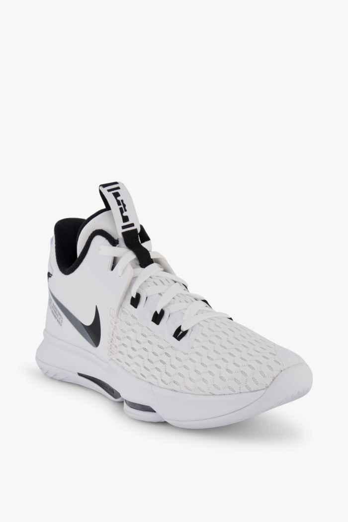 Nike LeBron Witness 5 Herren Basketballschuh Farbe Schwarz-weiß 1