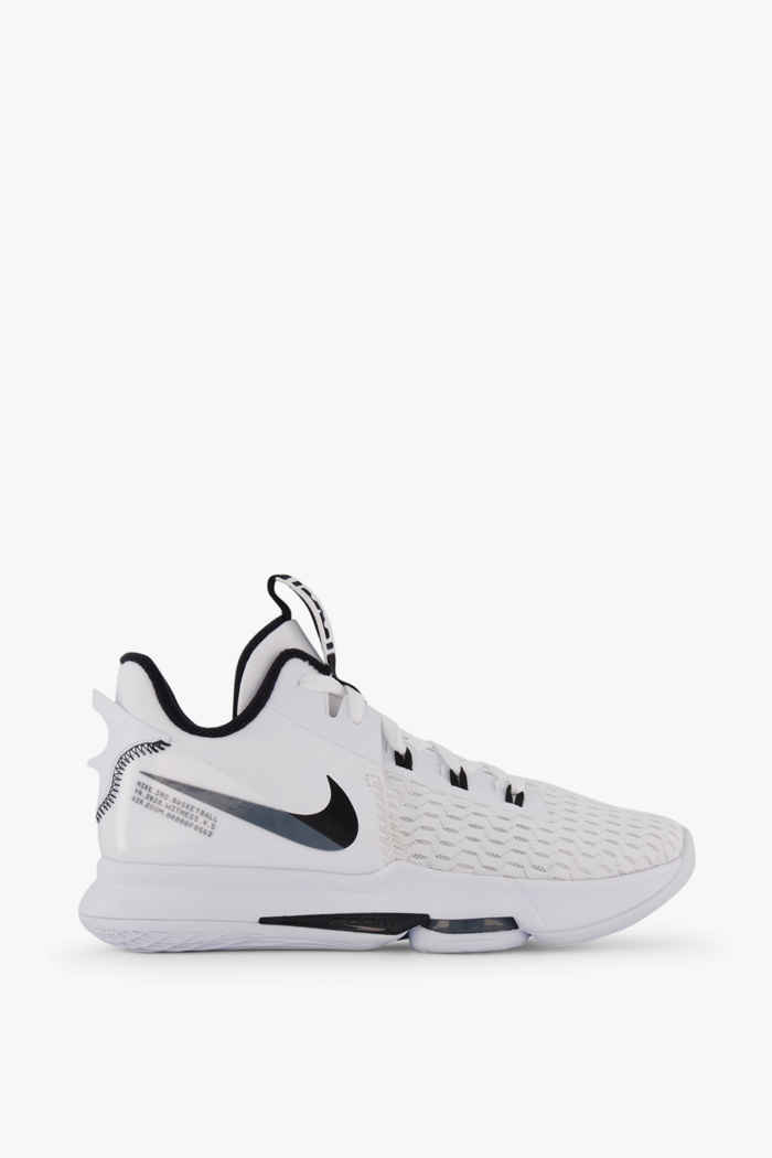 Nike LeBron Witness 5 Herren Basketballschuh Farbe Schwarz-weiß 2