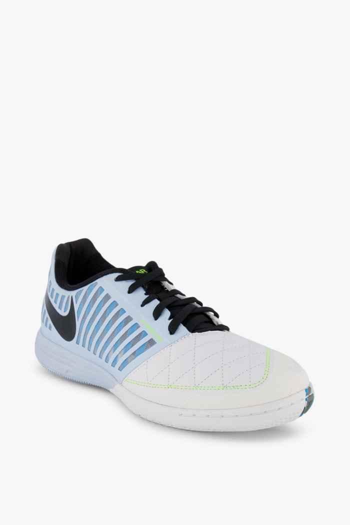 Nike Lunar Gato II IC Herren Fussballschuh Farbe Weiß-blau 1