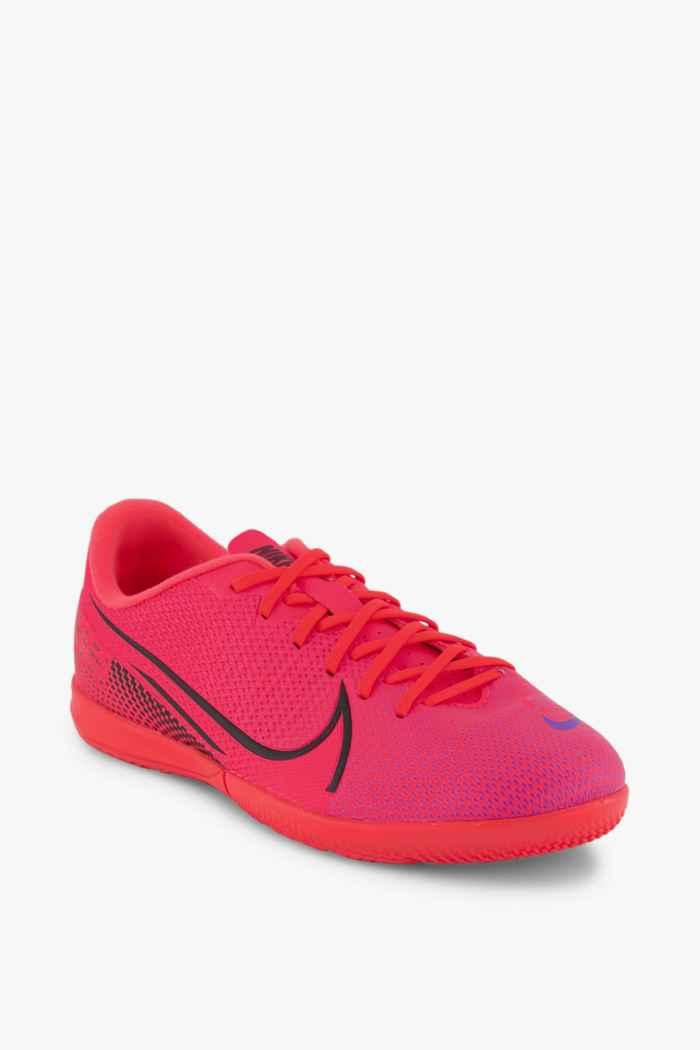 Nike Mercurial Vapor 13 Academy IC chaussures de football enfants Couleur Rouge 1
