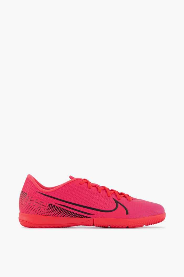 Nike Mercurial Vapor 13 Academy IC chaussures de football enfants Couleur Rouge 2