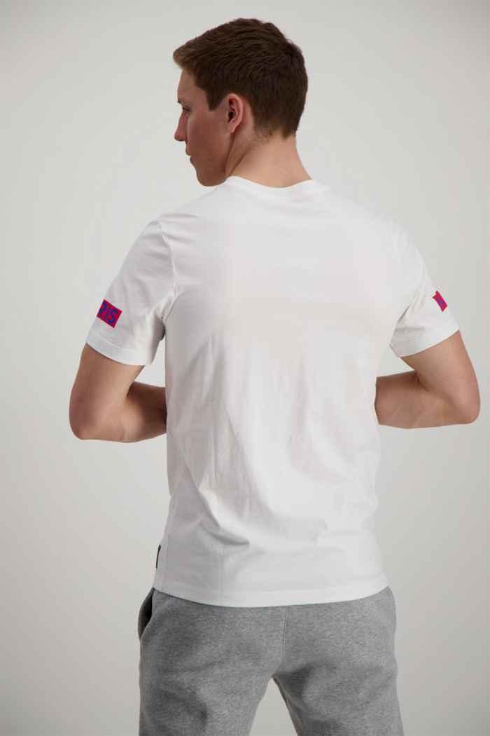 Nike Paris Saint-Germain Logo t-shirt uomo Colore Bianco-blu 2