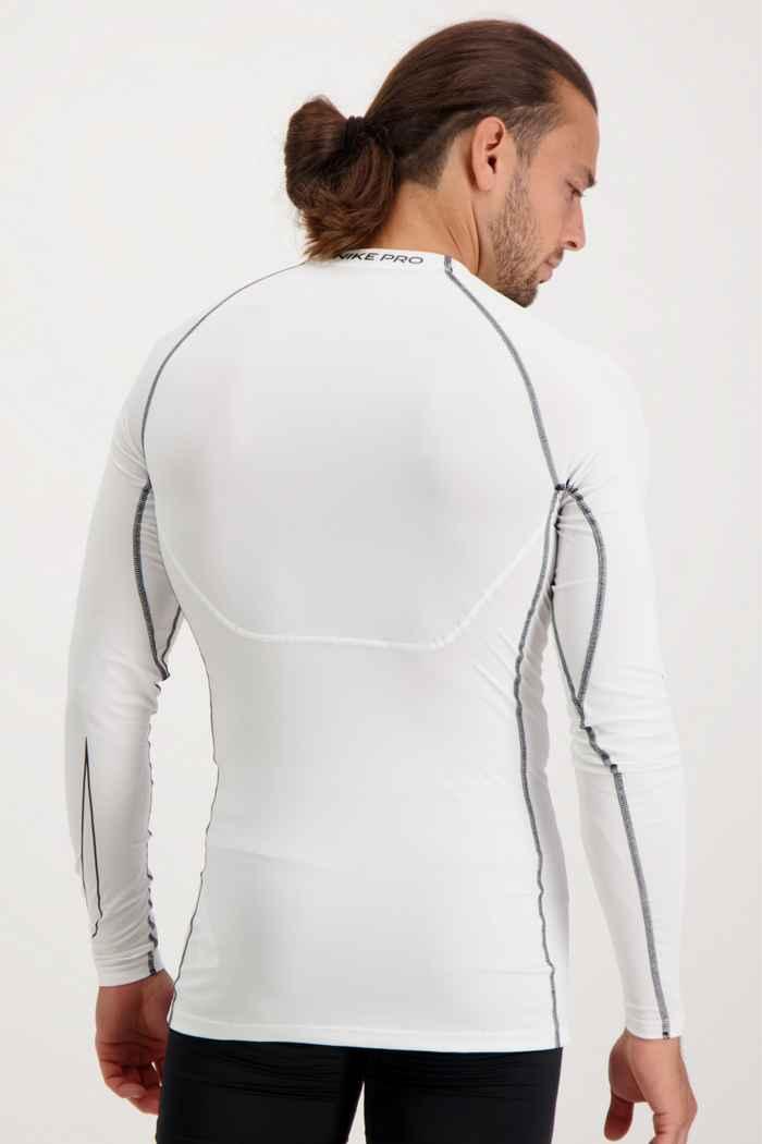 Nike Pro Dri-FIT longsleeve hommes Couleur Blanc 2