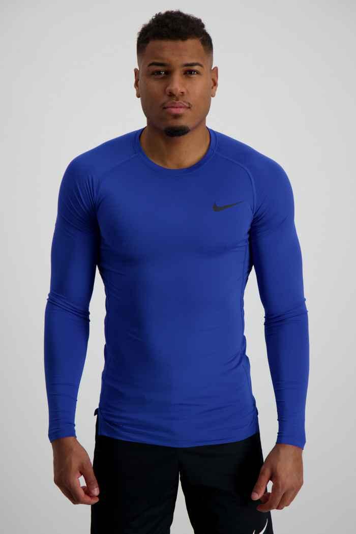 Nike Pro Herren Longsleeve Farbe Blau 1