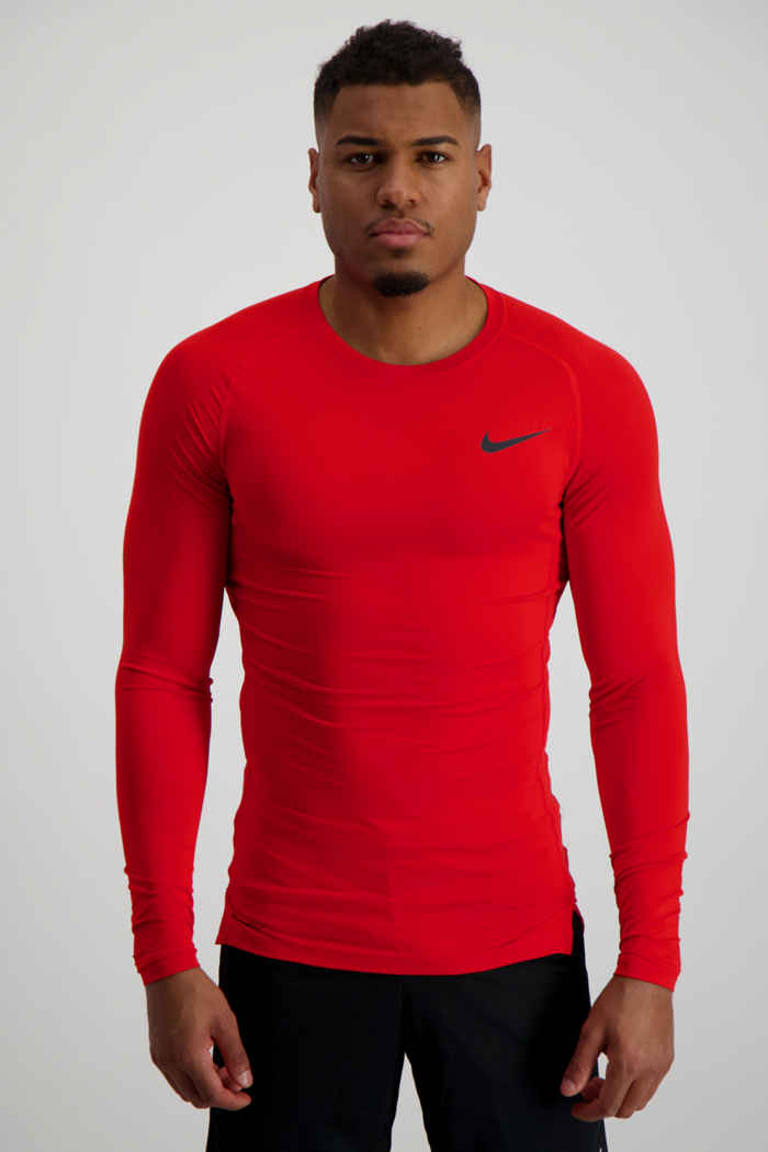 Nike Pro Herren Longsleeve Farbe Rot 1
