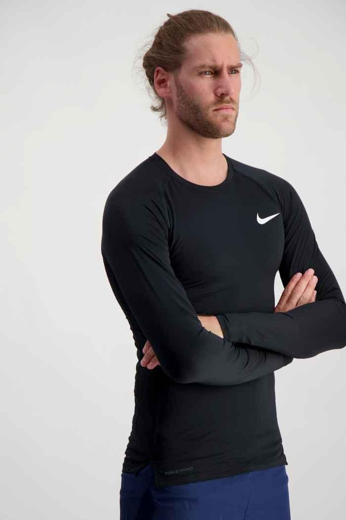 Nike Pro Herren Longsleeve Farbe Schwarz 1