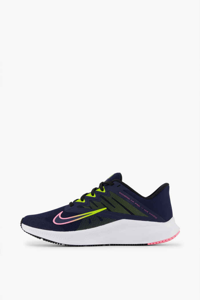 Nike Quest 3 Damen Laufschuh Farbe Blau-schwarz 2