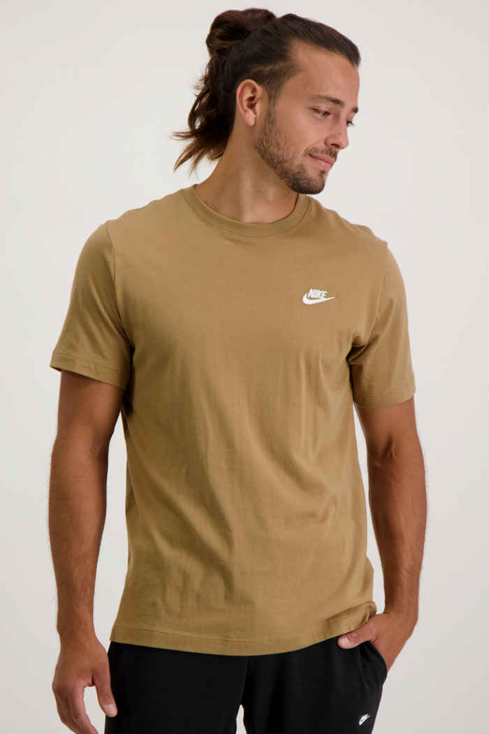 Nike Sportswear Club Herren T-Shirt Farbe Braun 1
