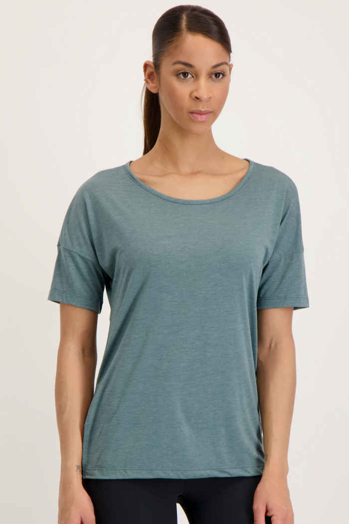 Nike Yoga Dri-FIT Damen T-Shirt Farbe Grün 1