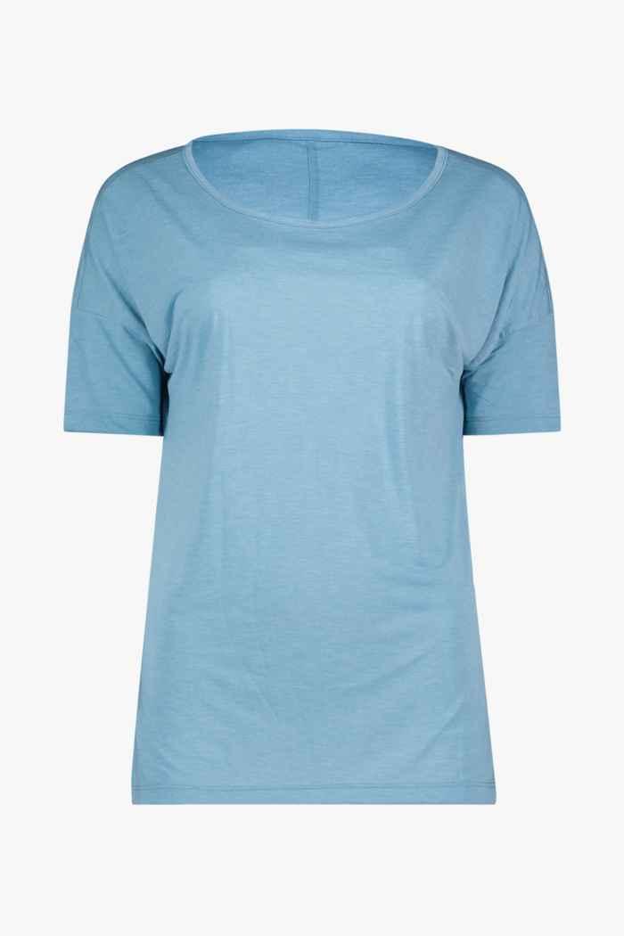Nike Yoga Dri-FIT t-shirt femmes Couleur Bleu pétrole 1