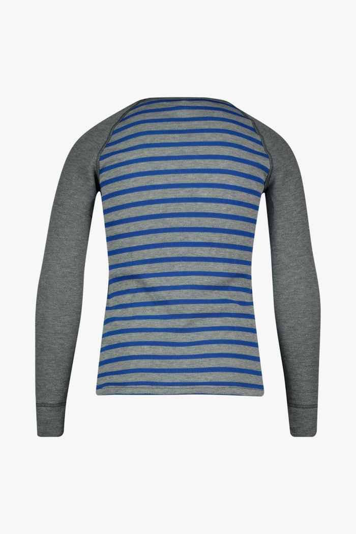 Odlo Active Warm ECO Stripes Kinder Thermo Longsleeve Farbe Grau 2