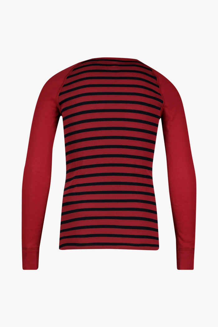 Odlo Active Warm ECO Stripes Kinder Thermo Longsleeve Farbe Rot 2