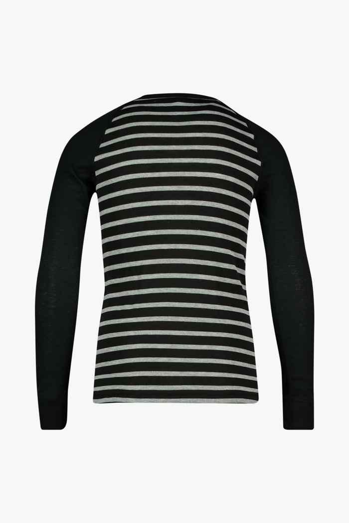 Odlo Active Warm ECO Stripes Kinder Thermo Longsleeve Farbe Schwarz 2