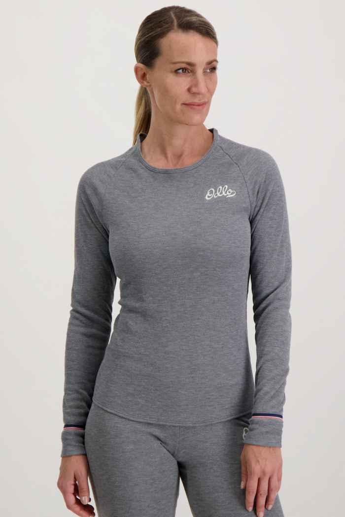 Odlo Active Warm Originals ECO Damen Thermo Longsleeve Farbe Grau 1
