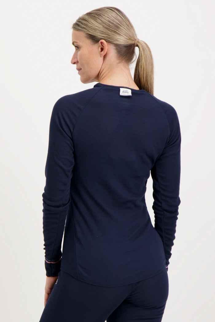 Odlo Active Warm Originals ECO Damen Thermo Longsleeve Farbe Navyblau 2