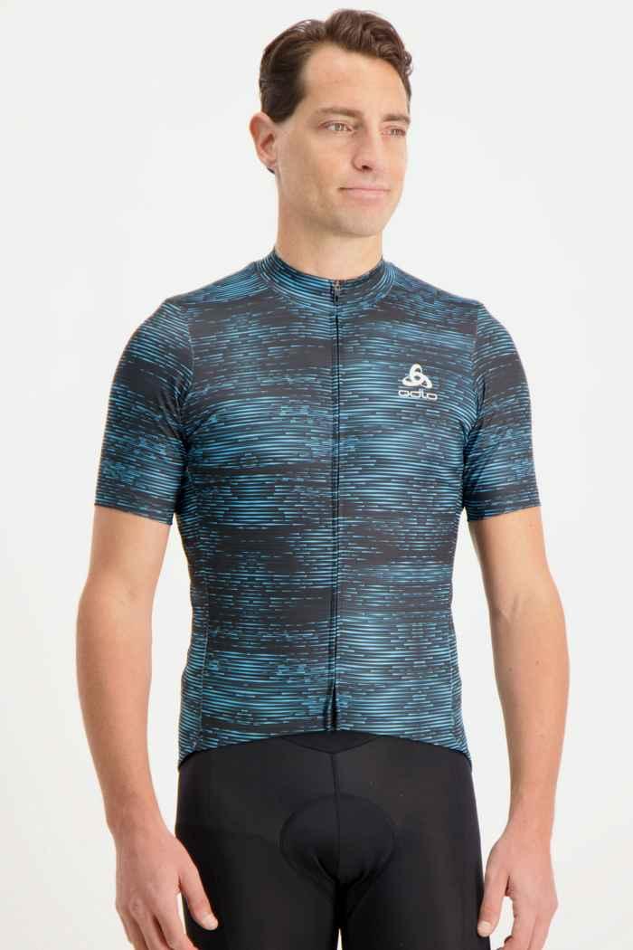 Odlo Element maillot de bike hommes Couleur Bleu 1