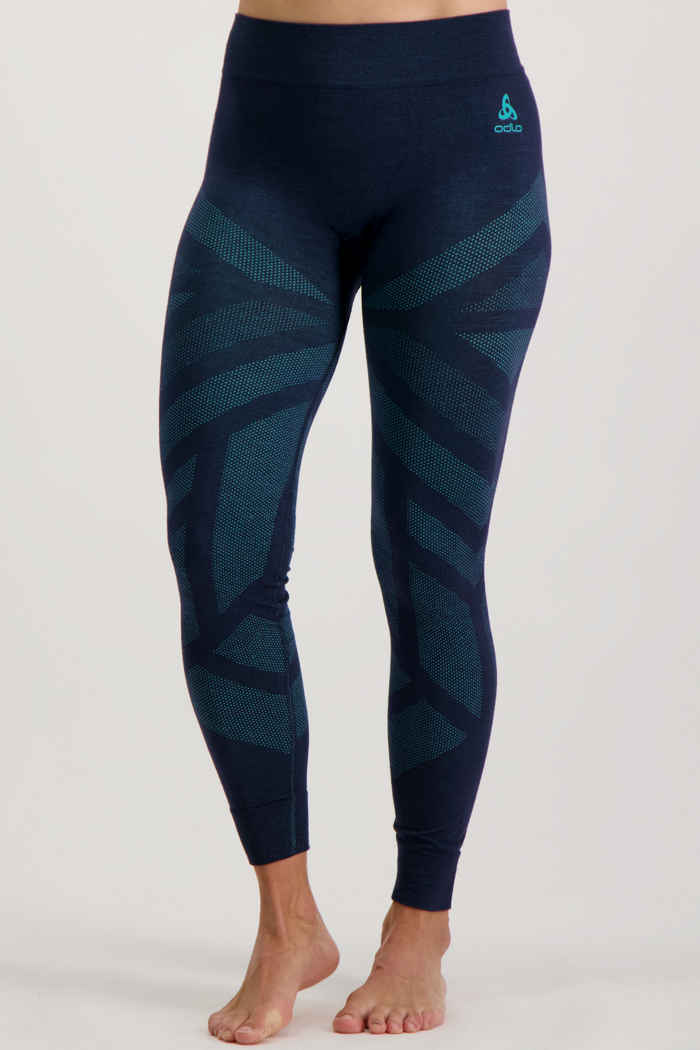 Odlo Natural + Kinship Warm pantalon thermique femmes Couleur Bleu pétrole 1