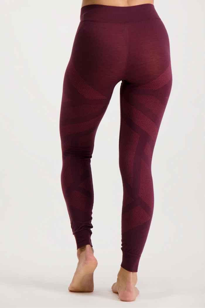 Odlo Natural + Kinship Warm pantalon thermique femmes Couleur Bordeaux 2