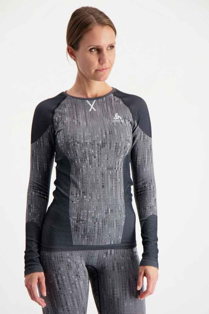 Odlo Performance Blackcomb Damen Thermo Longsleeve Farbe Anthrazit 1