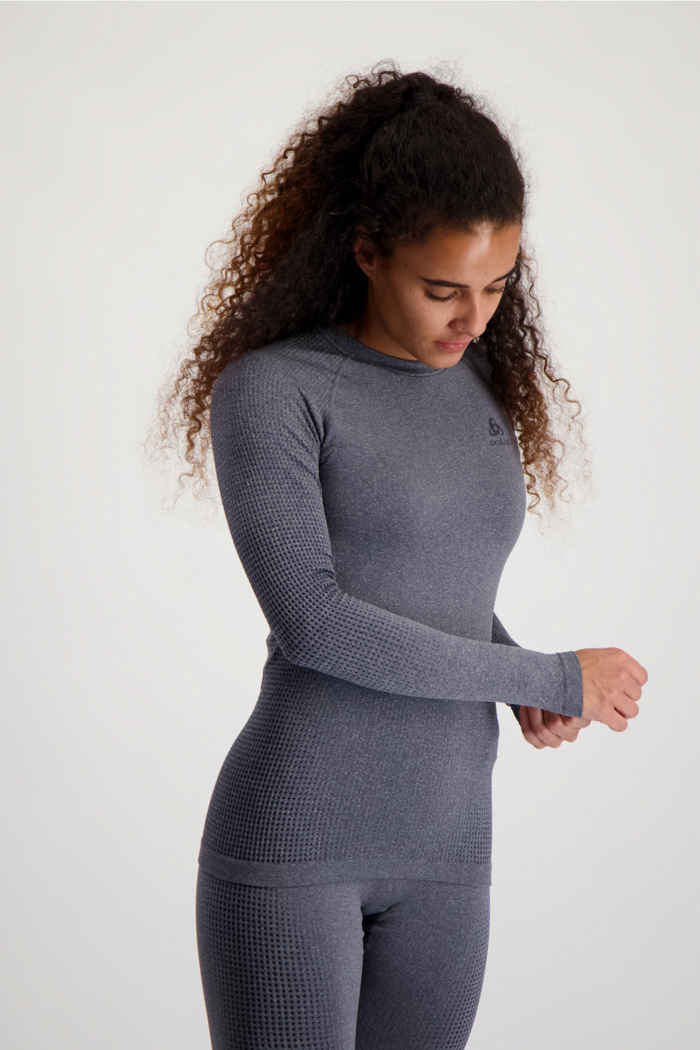 Odlo Performance Warm ECO Damen Thermo Longsleeve Farbe Grau 1