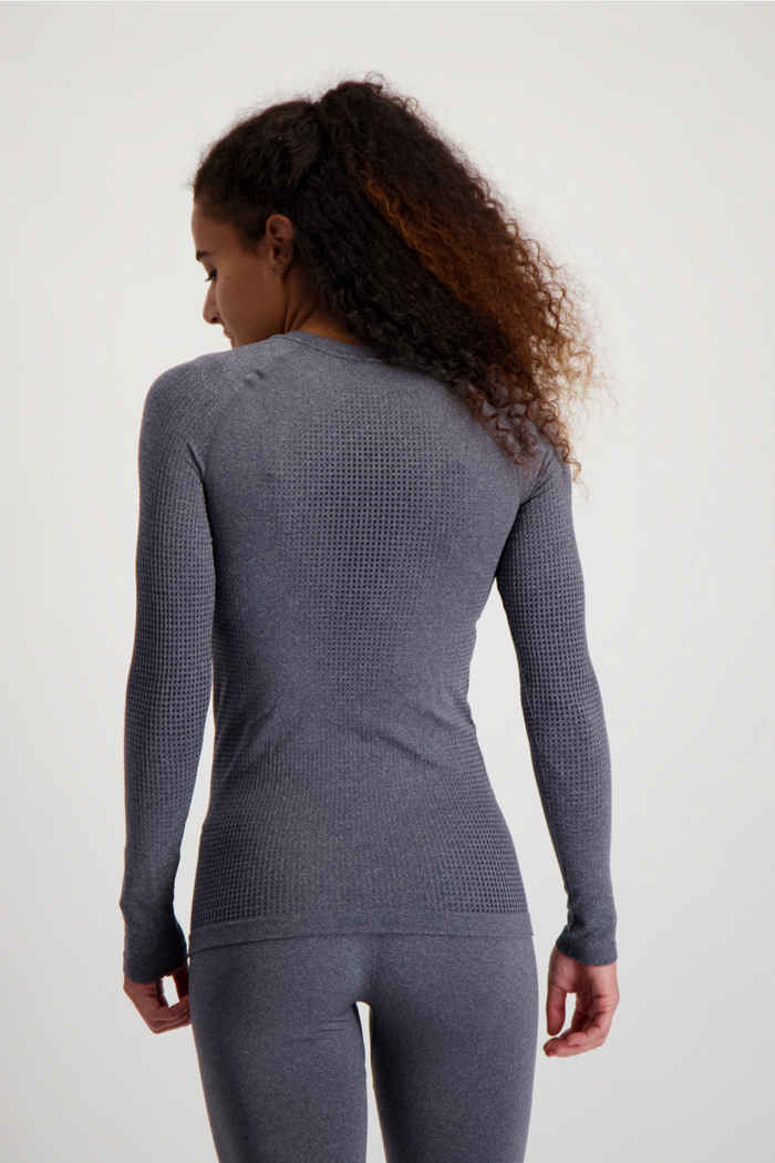 Odlo Performance Warm ECO Damen Thermo Longsleeve Farbe Grau 2