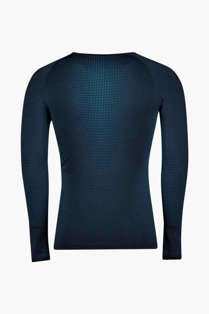 Odlo Performance Warm ECO Herren Thermo Longsleeve Farbe Blau 2