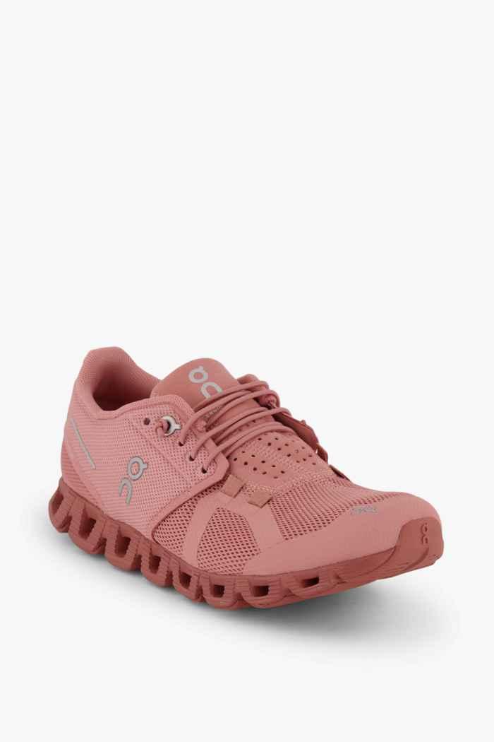 On Cloud Monochrome Damen Laufschuh Farbe Rosa 1