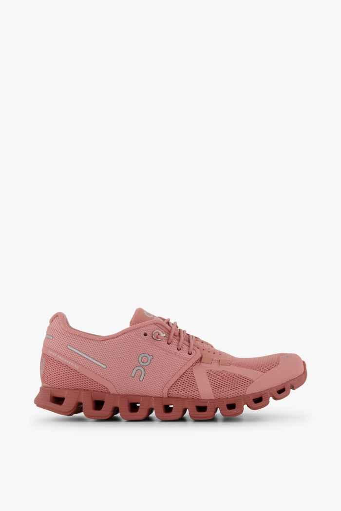 On Cloud Monochrome Damen Laufschuh Farbe Rosa 2