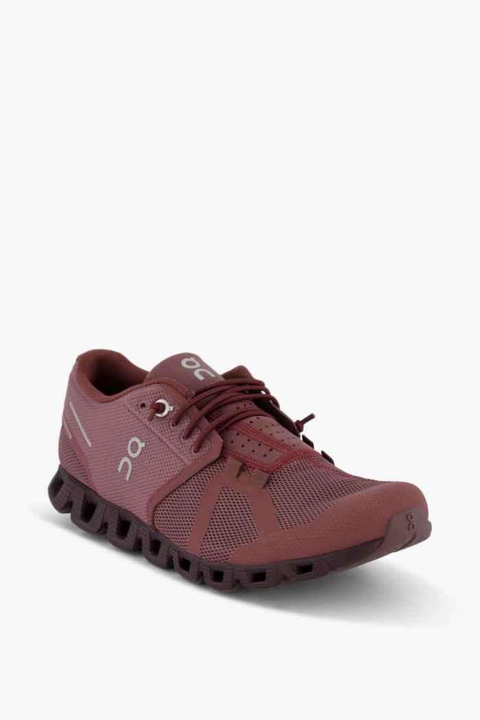 On Cloud Monochrome Damen Laufschuh Farbe Rot 1