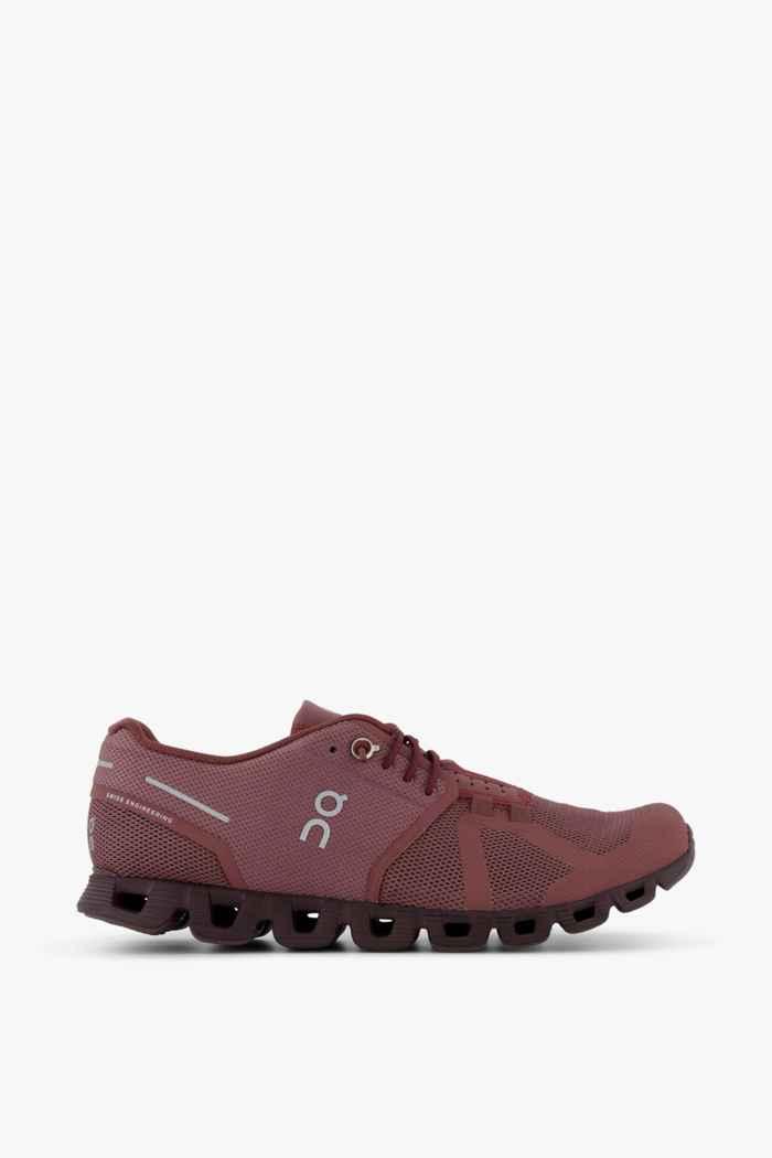 On Cloud Monochrome Damen Laufschuh Farbe Rot 2
