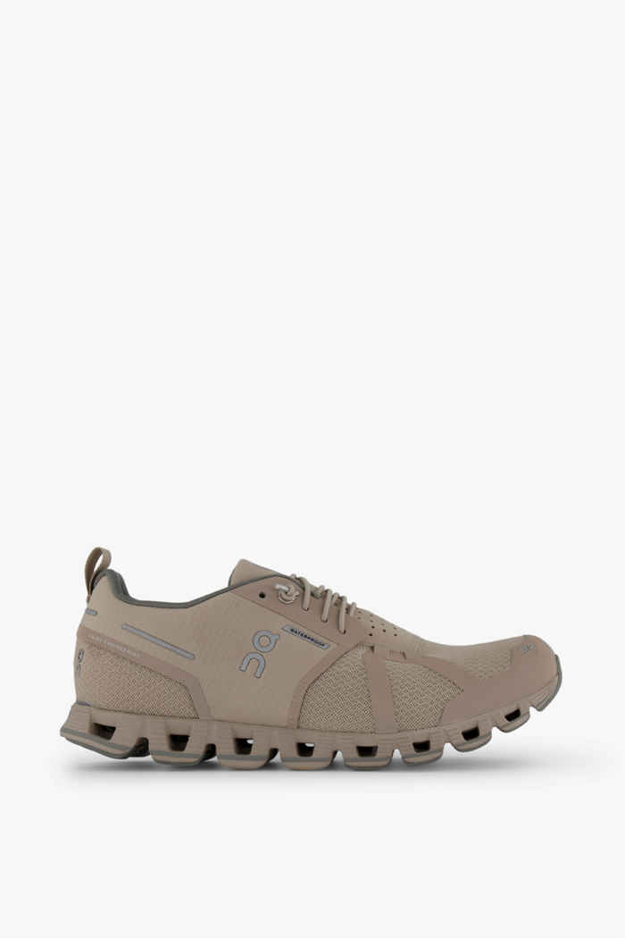 On Cloud Waterproof chaussures de course femmes Couleur Beige/crème 2