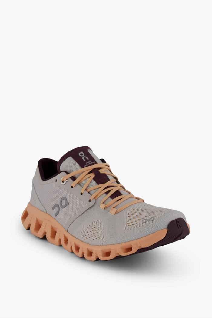 On Cloud X chaussures de course femmes Couleur Argent 1
