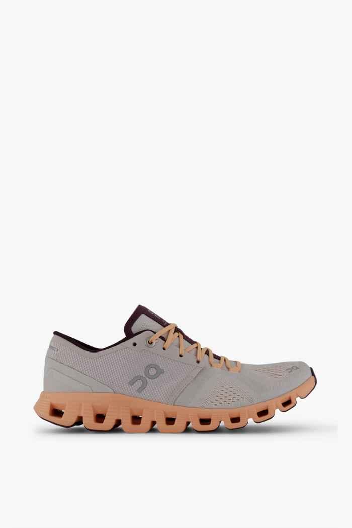 On Cloud X chaussures de course femmes Couleur Argent 2
