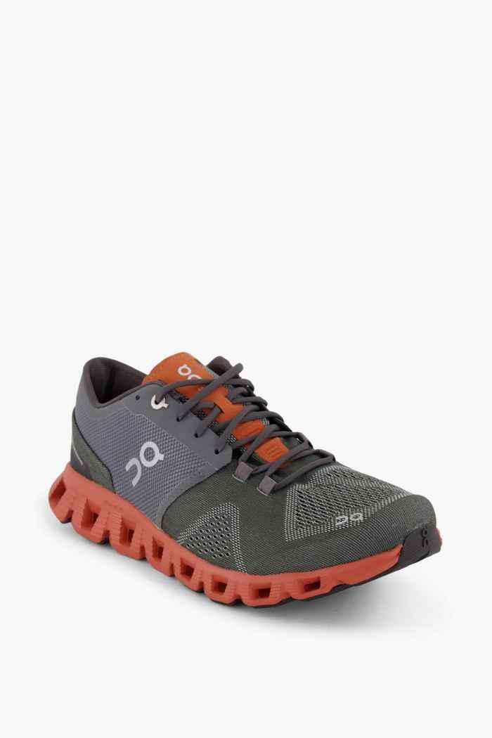 On Cloud X chaussures de course hommes Couleur Gris 1