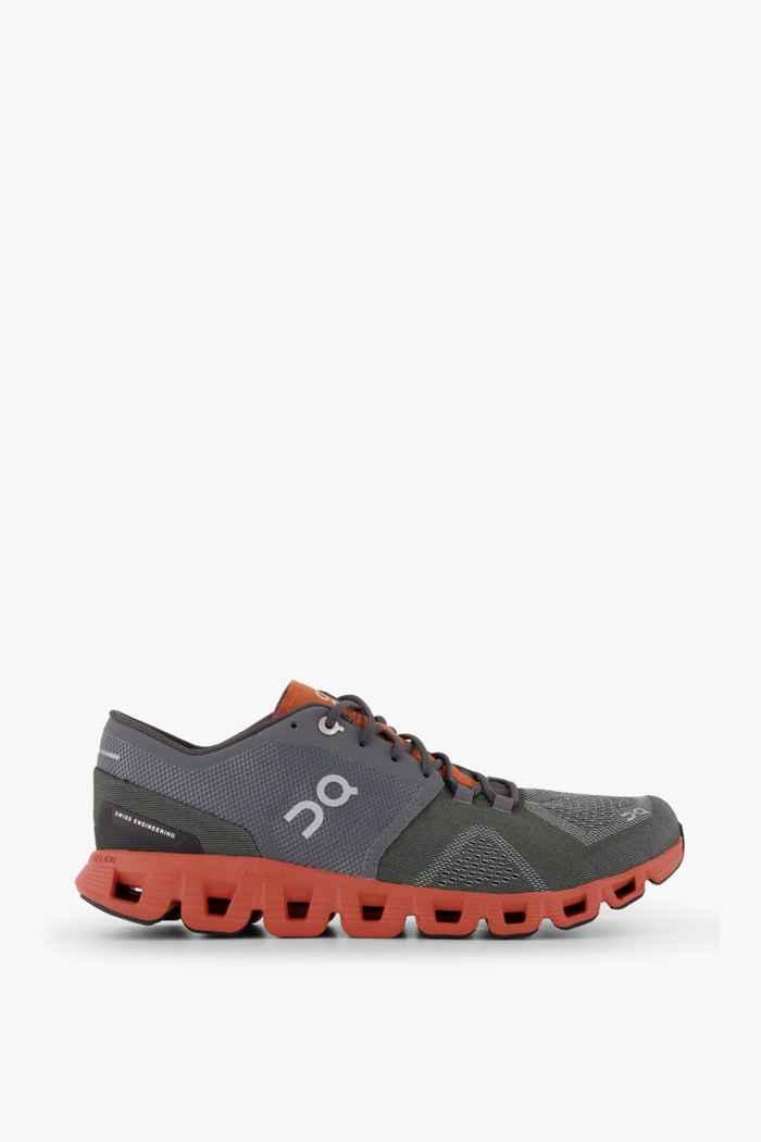 On Cloud X chaussures de course hommes Couleur Gris 2