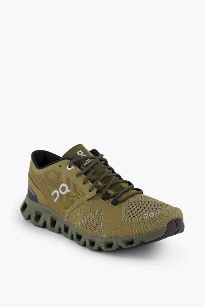 On Cloud X chaussures de course hommes Couleur Olive 1