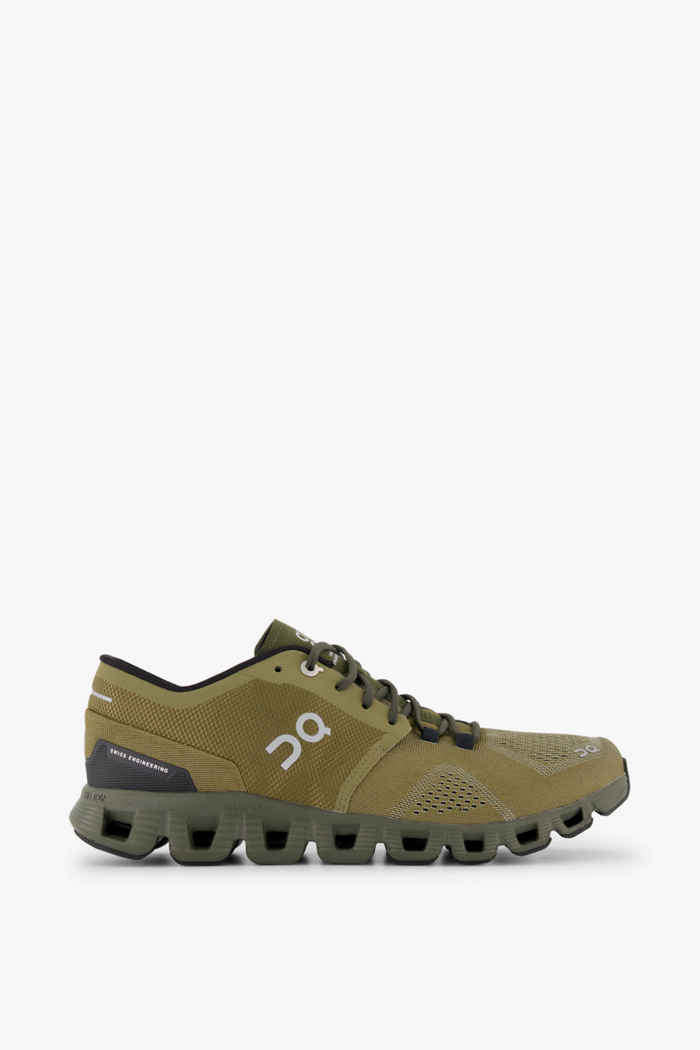 On Cloud X chaussures de course hommes Couleur Olive 2