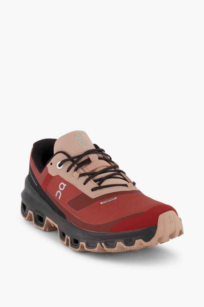 On Cloudventure Waterproof Damen Trekkingschuh Farbe Rubinrot 1