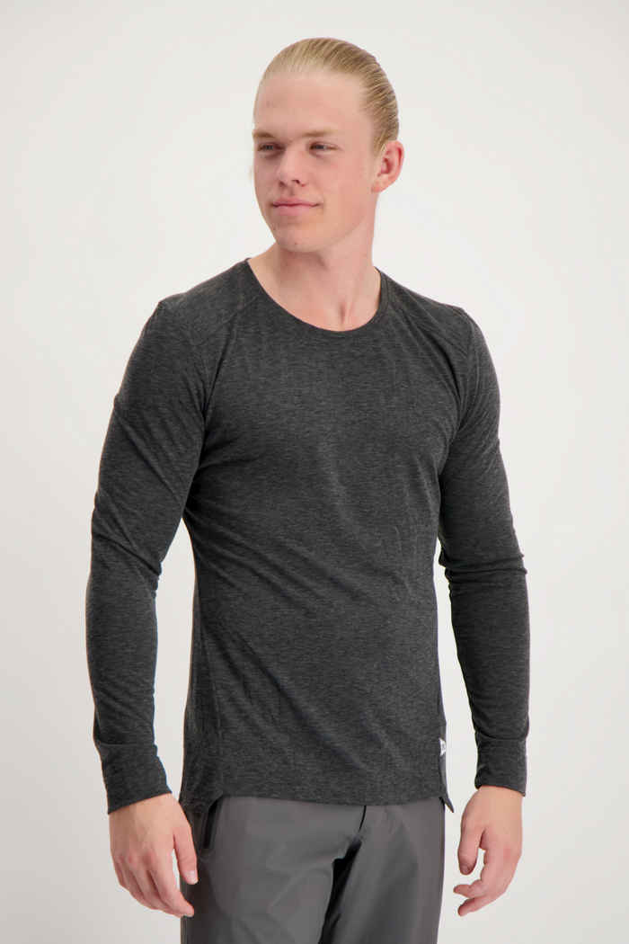 On Comfort Long-T longsleeve hommes Couleur Anthracite 1