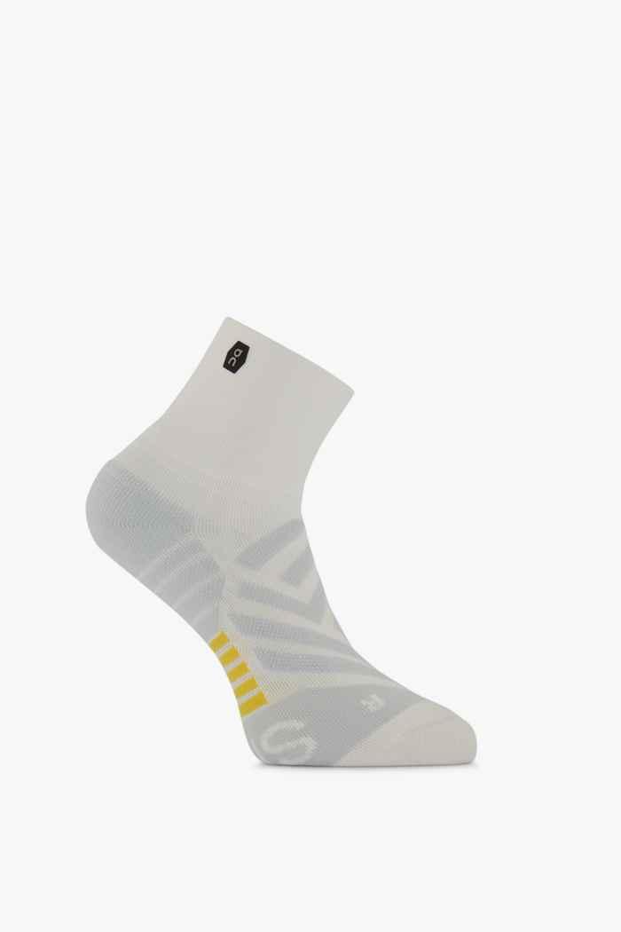 On Mid 36-43 chaussettes de course femmes Couleur Blanc 1