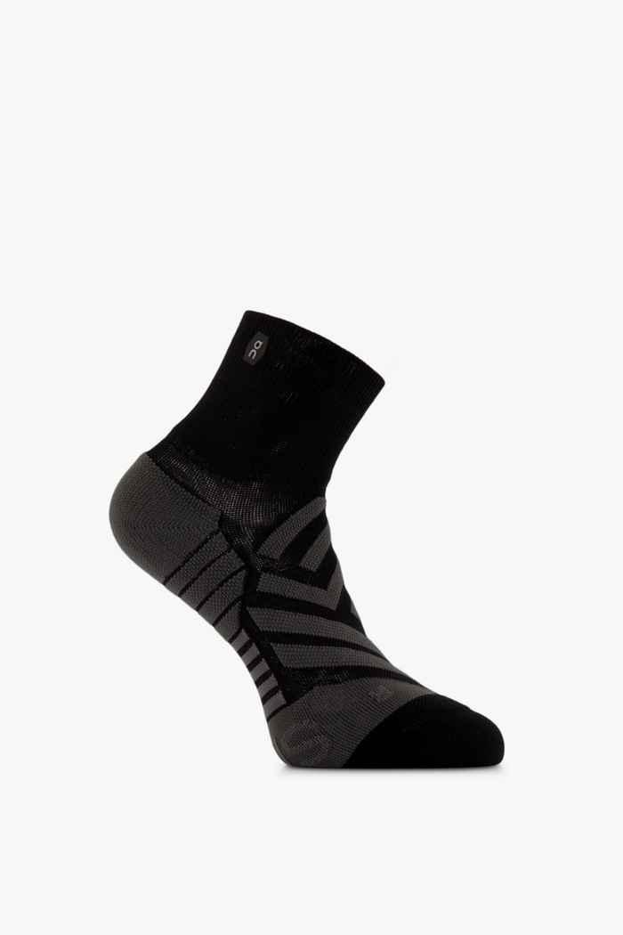 On Mid 36-43 chaussettes de course femmes Couleur Noir 1