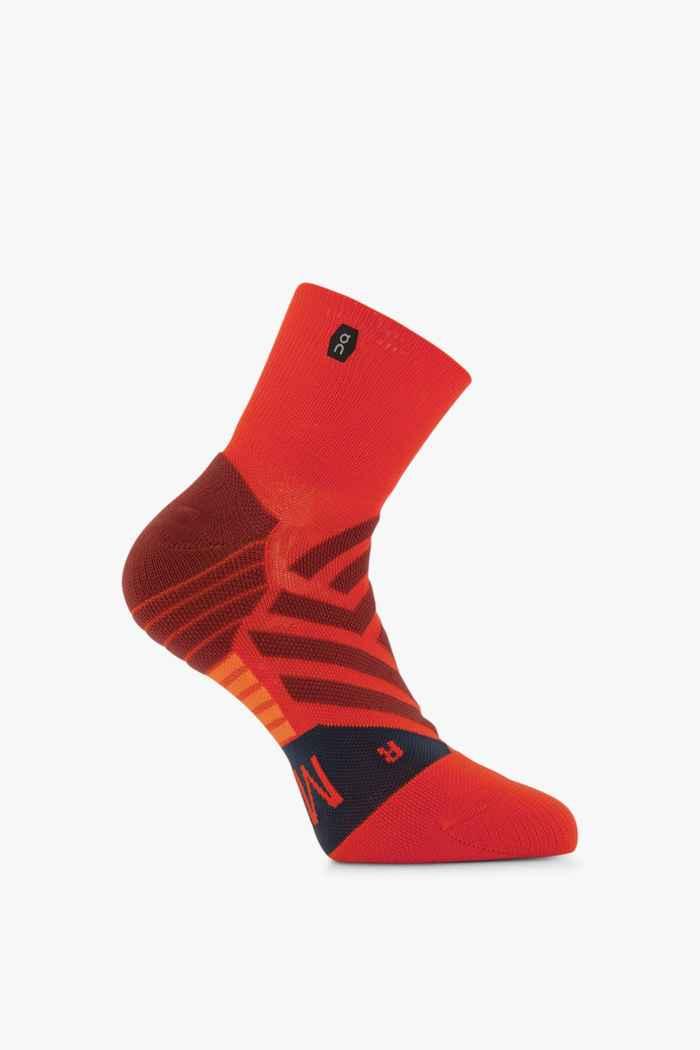 On Mid 40-47 chaussettes de course hommes Couleur Rouge 1