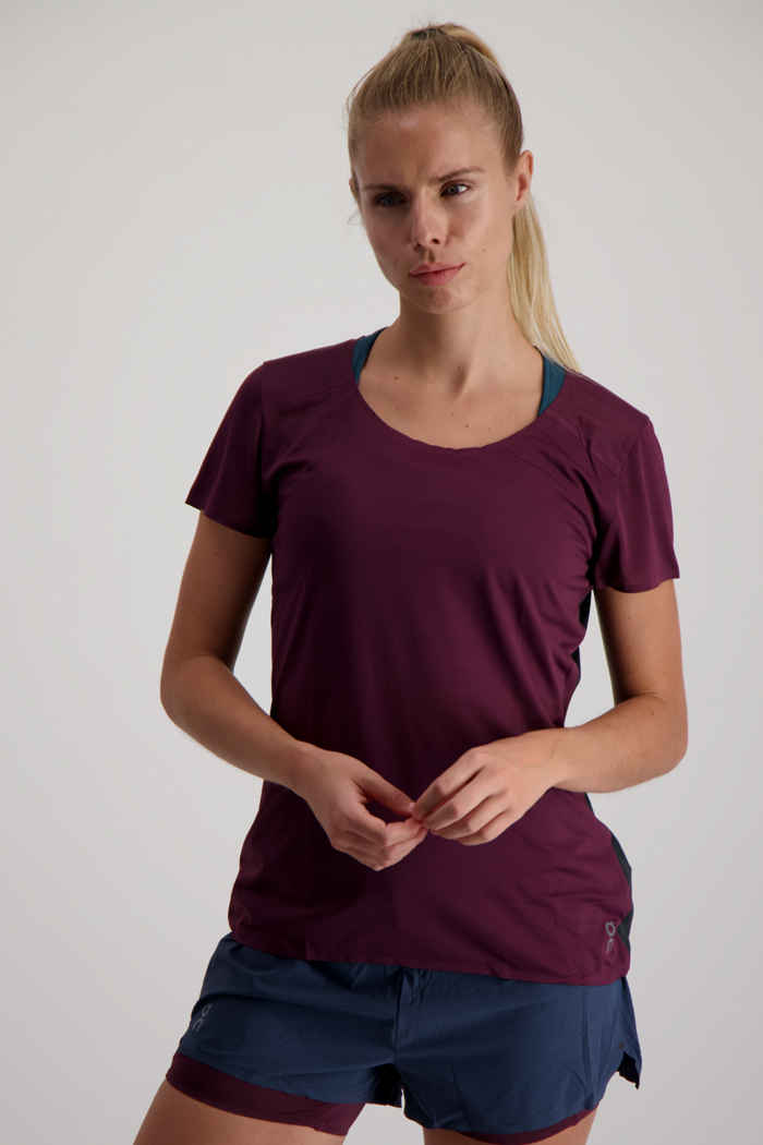 On Performance-T t-shirt femmes Couleur Bordeaux 1